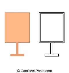 tablero de anuncios, iconos