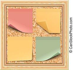 tablero de anuncios, pegatinas, coloreado, corcho