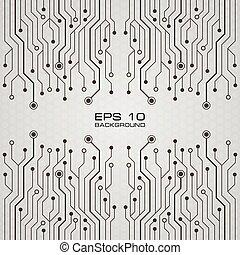 tablero de circuitos, impreso