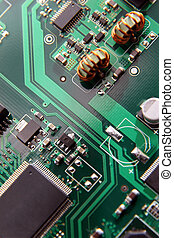 tablero de circuitos, macro, patrones