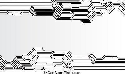 tablero de circuitos, plano de fondo