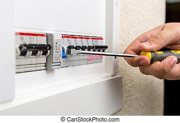 tablero de instrumentos, fusible, electricista, instalación...