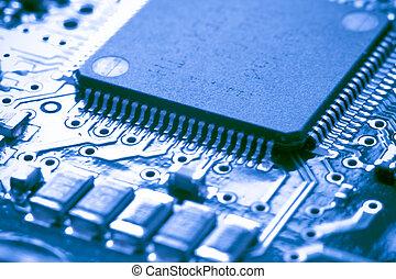 tablero electrónico, circuito