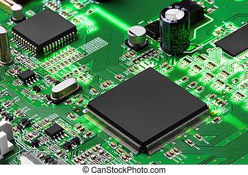 tablero electrónico, circuito, procesador