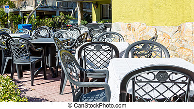 Tables and Chairs at Ouside Patio