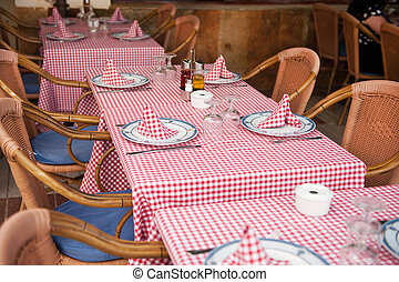 tables at the terrace