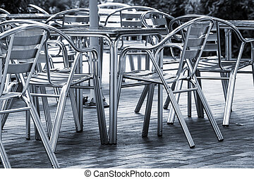 tables cafe on the street