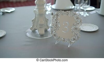 Tables decoration at the party