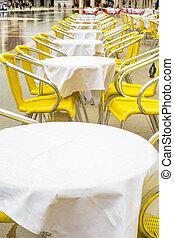 Tables in Venice