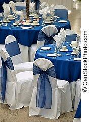 tables, monture, pour, une, événement