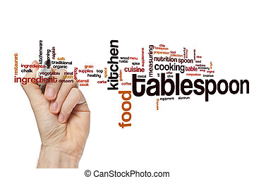 Tablespoon word cloud concept
