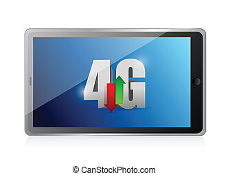 tablet 4g connection. illustration design