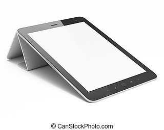 tablet, abstract, computer, zwarte achtergrond, witte , (pc)