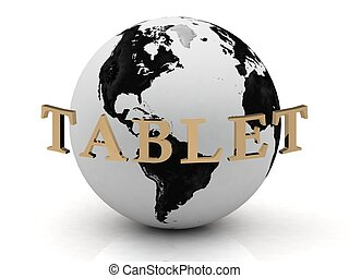 TABLET abstraction inscription around earth