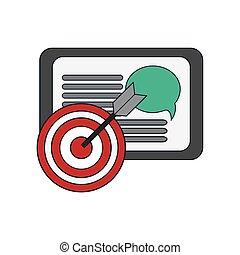 tablet and  bullseye icon