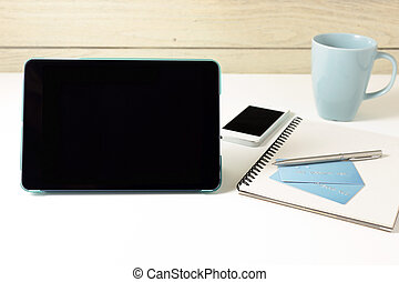 Tablet and credit card for online banking