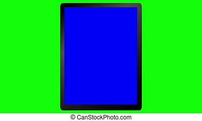 Tablet Animation on a Green Screen