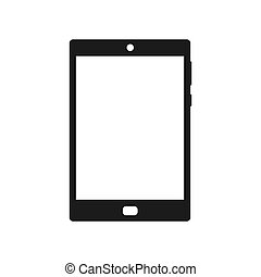 Tablet black icon vector illustration isolated on white background