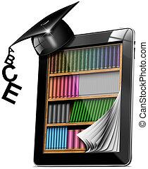 Tablet Bookcase Graduation Hat