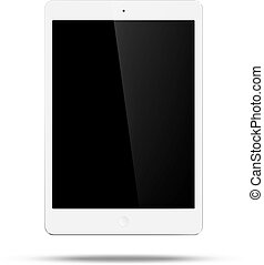 Tablet - Vector white tablet pc in ipad mini style on white...