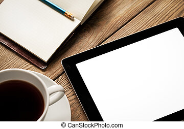 Tablet, Coffee and Agenda