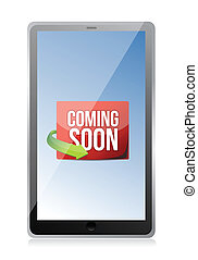 tablet Coming soon message