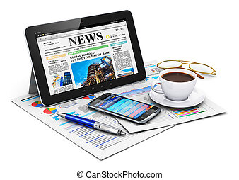 Tablet computer and business objects