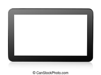 Tablet computer isolated on a white background