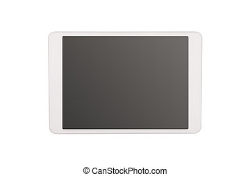 Tablet computer on white