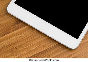 tablet, computer, op de tafel