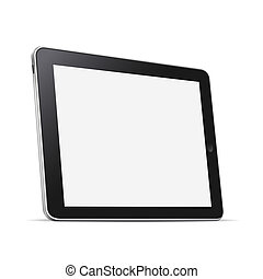 Tablet computer (pc) isolated on white
