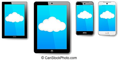 Tablet Computer Phone Cell Cloud