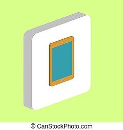 Tablet computer symbol