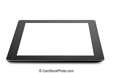 Tablet computer (tablet pc) . Modern portable touch pad...