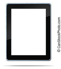 Tablet computer with blank area