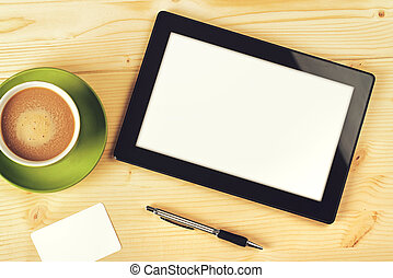 Tablet Computer With Blank White Screen