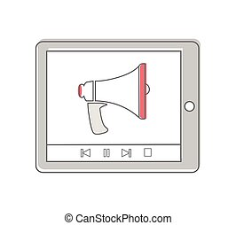 Tablet Computer with Megaphone