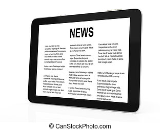 tablet computer with news