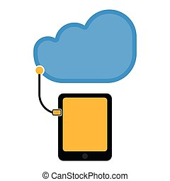 Tablet connect to cloud technology