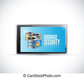 tablet database security illustration design