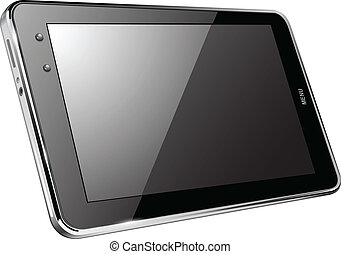 Tablet computer isolated, vector illustration