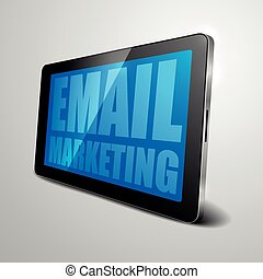 tablet EMail Marketing