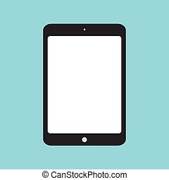 Tablet flat icon. Modern gadget vector illustration. Tablet...