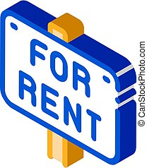 Tablet For Real Estate Rent isometric icon vector illustration