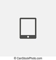 Tablet icon in a flat design in black color. Vector illustration eps10