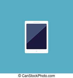 Tablet icon in flat style vector illustration