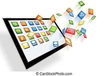 Tablet illustration - Tablet computer illustration