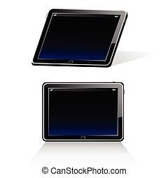 tablet illustration - tablet vector illustration art on...