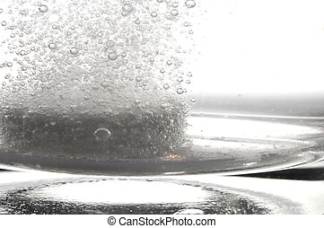 tablet in glass water