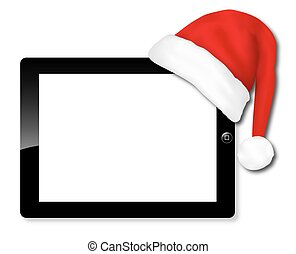 Tablet IPAD santa hat
